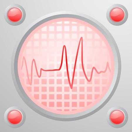 Pulse screen Stock Vector - 16009537
