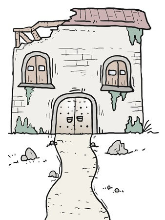 ruined house: Ruins house Illustration