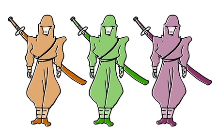 Color ninja Stock Vector - 16009574