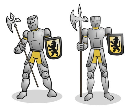 halberd: Armor military Illustration