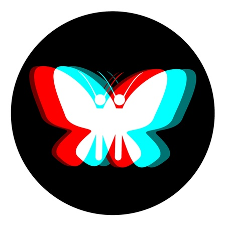 dimensinal: Butterfly effect icon Illustration