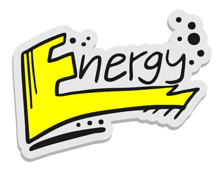 Energy sticker Stock Vector - 16009582