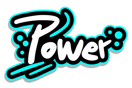 Power energy sticker Stock Vector - 16009494