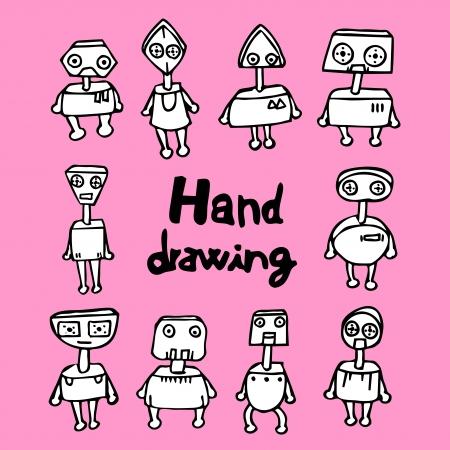 Robot hand drawing Stock Vector - 16009548