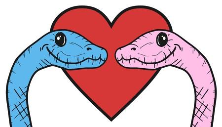 pretend: Snake love Illustration