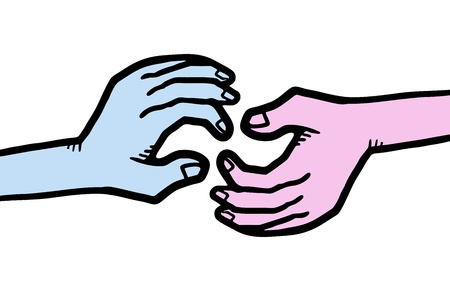 Two color hands