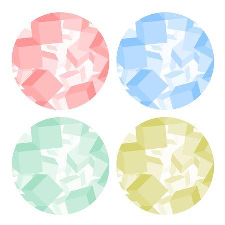 Color cubes circle icon Vector