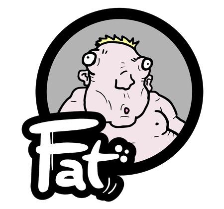 bulimia: Fat icon Illustration
