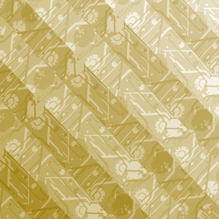 degraded: Golden background Illustration
