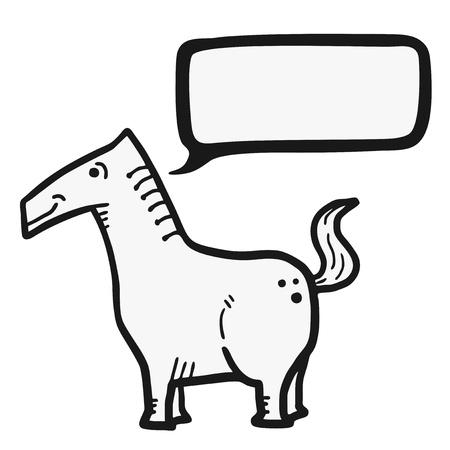 talkative: Horse talking Illustration