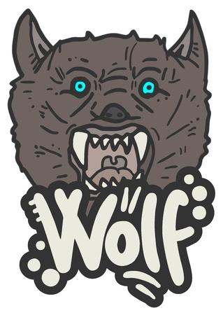 Wild wolf Stock Vector - 16187403