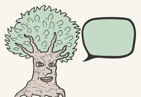 Comic nature tree Stock Vector - 16315962
