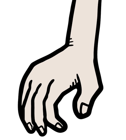 tact: Cartoon hand Illustration