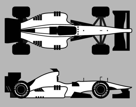 car speed: Speed racing car Illustration