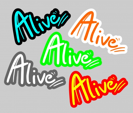 Alive stickers Vector