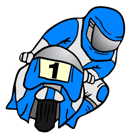 Champion motorcycle Stock Vector - 16496317