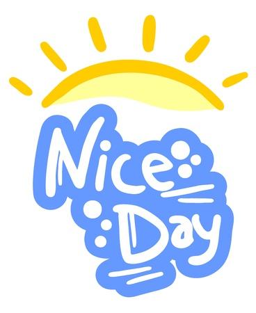 bonsoir: Journ�e de soleil de Nice Illustration