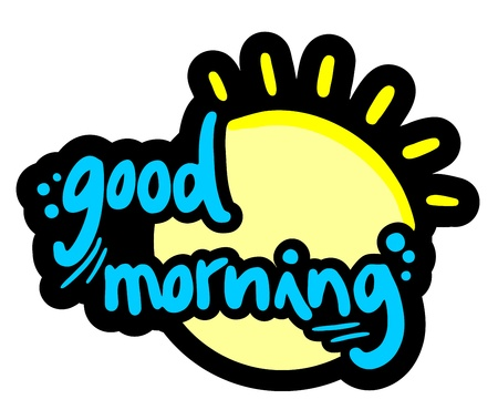 good luck: Good morning sun design Illustration
