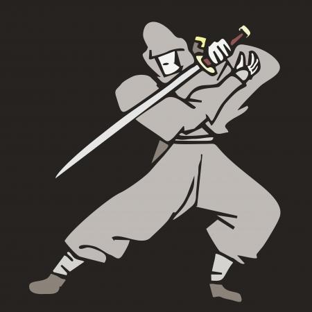 Ninja fighter Vector