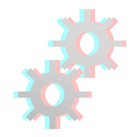 dimensinal: Machine icon Illustration