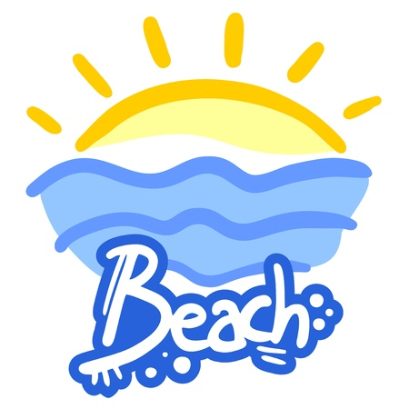 Hot beach Vector