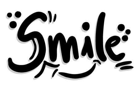 smiling: Smile sticker Illustration