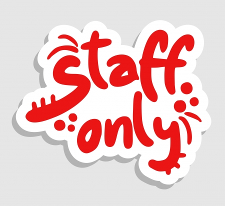 staff only: Staff only Illustration