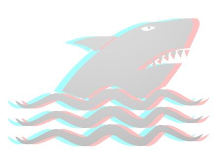 menacing: Shark design