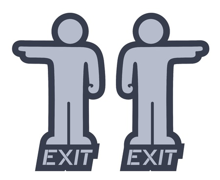 reference point: Exit puppet Illustration