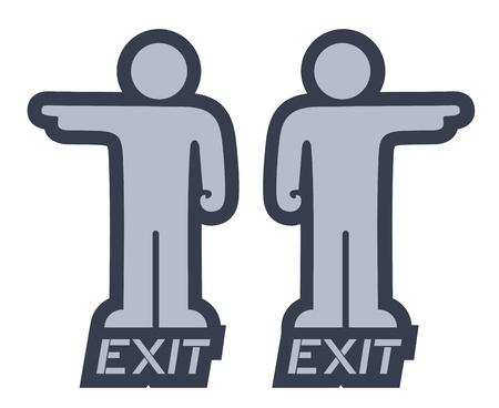 signaling: Exit puppet Illustration