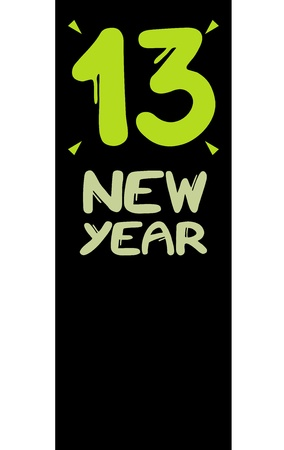 13 year card Illustration