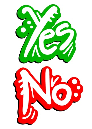 Yes and no Stock Vector - 16475963