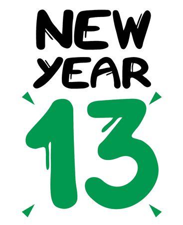13 new year sticker