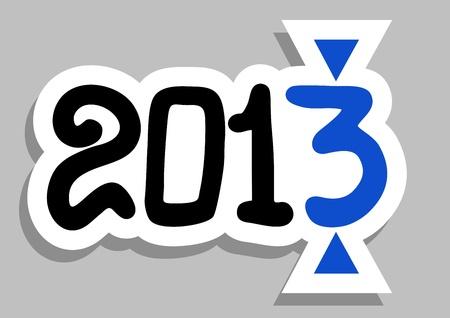 2013 sticker Illustration