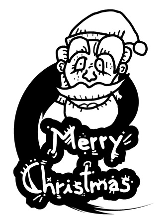 Merry Christmas funny design Stock Vector - 16622360