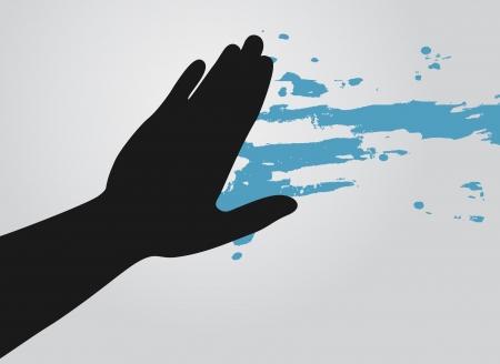 removing: Paint blue design Illustration