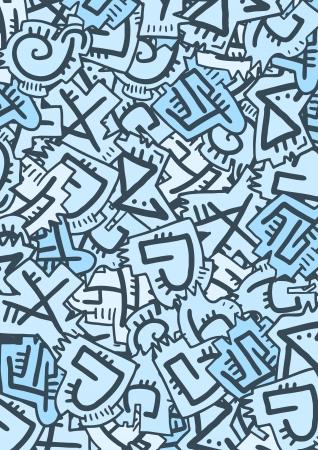 runes: Creative blue runes mosaic background