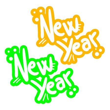 New year graffiti Illustration