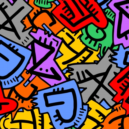 flashy: Color art runes texture Illustration
