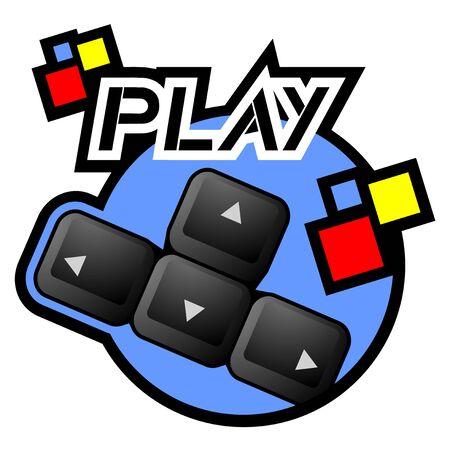 directives: Play keyboard icon Illustration