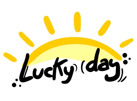 Lucky day sun Vector