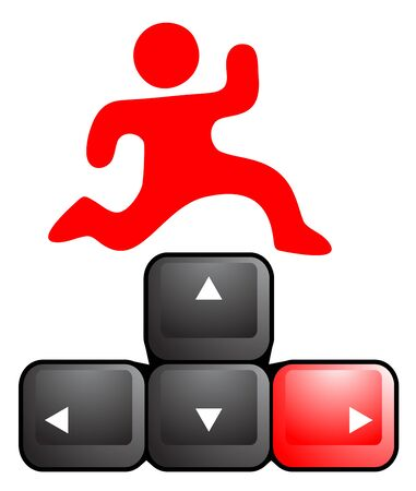 Play game key computer Vector