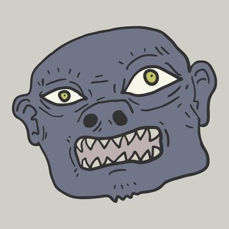 monster face: Monster face