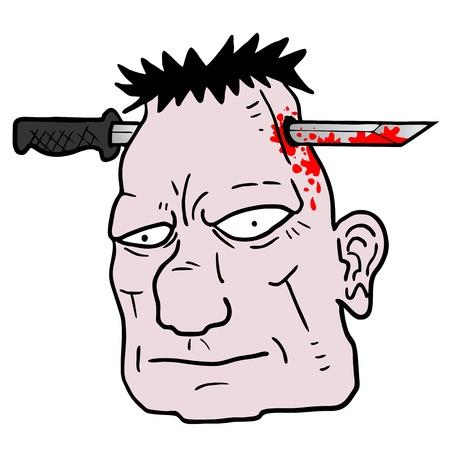 head start: Horror face Illustration