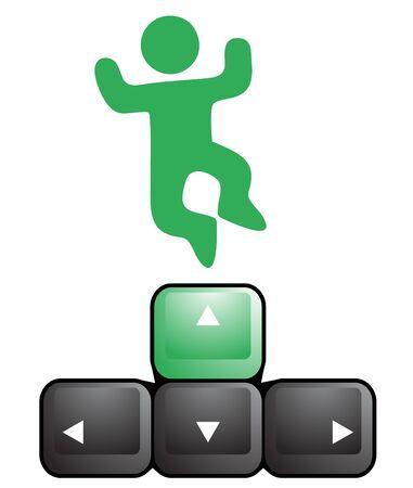 directives: Jump key play Illustration