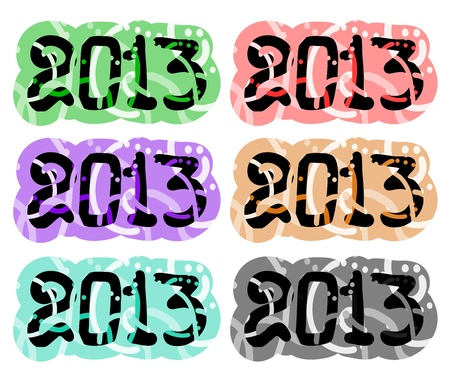 2013 color art collection symbols Stock Vector - 16718323