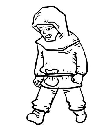 Cartoon draw man Vector
