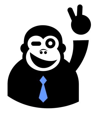 Winner elegant gorilla