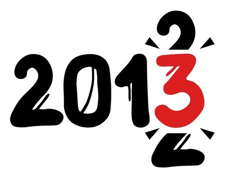 2013 original year Stock Vector - 16718336