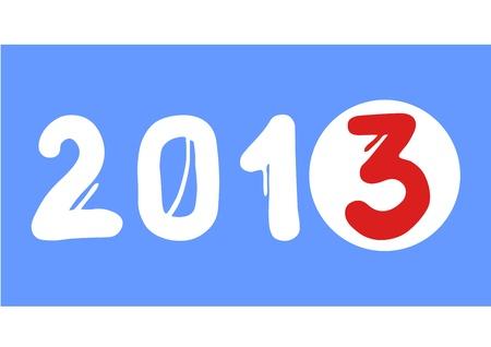 2013 card Stock Vector - 16718266